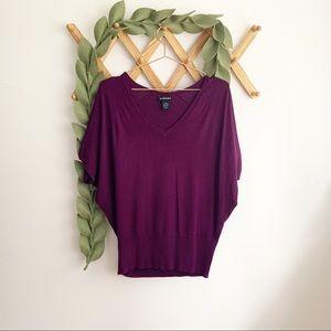 Lane Bryant Purple Dolman Sweater 14/16